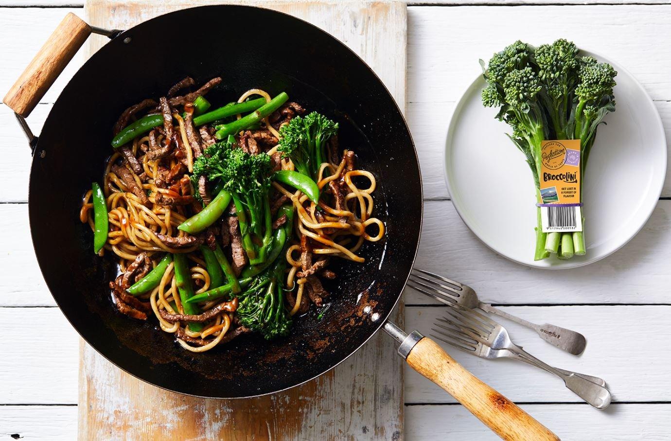 Hokkien broccolini noodles