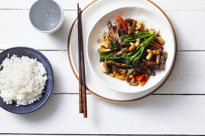 Broccolini with Teriyaki Beef