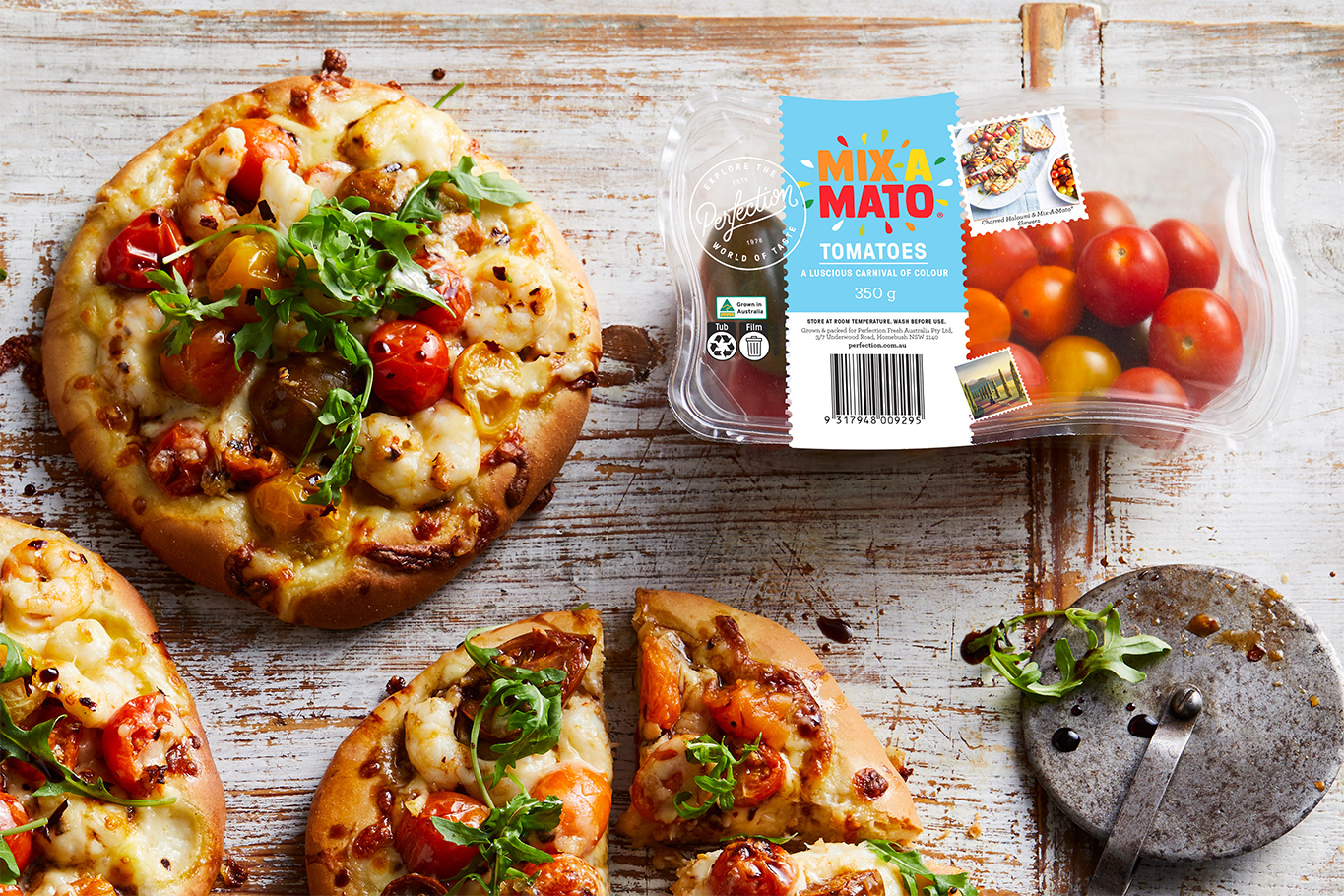Mixamato Tomato Margherita Chilli Prawn Pizza