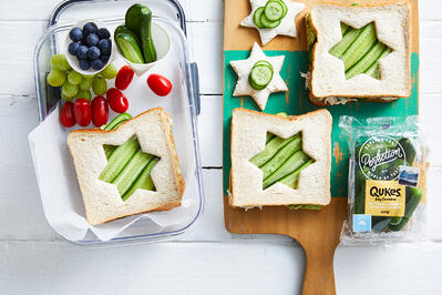 Lunchbox Recipe - Qukes Star Sandwiches