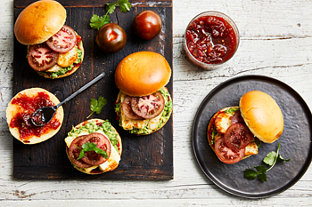 Kumato Tomato Breakfast Burgers