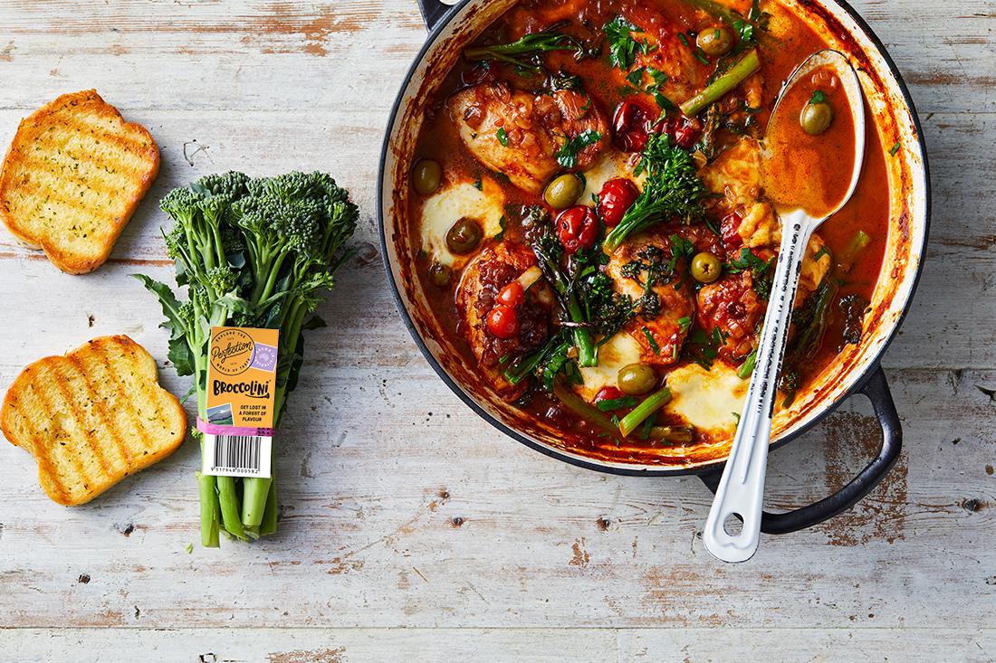 Recipe - One pan Caprese Chicken with Broccolini