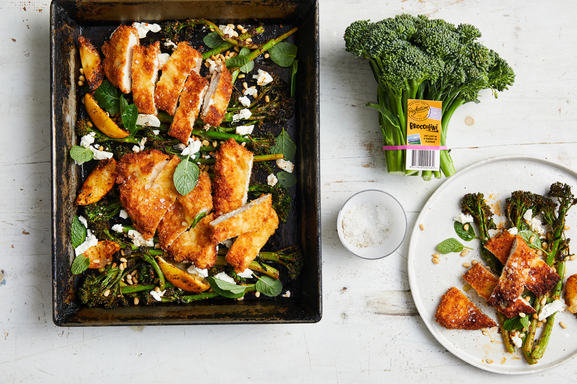 Recipe_LR_Broccolini_Middle Eastern Broccolini Chicken Schnitty_Janelle Bloom_2020_01