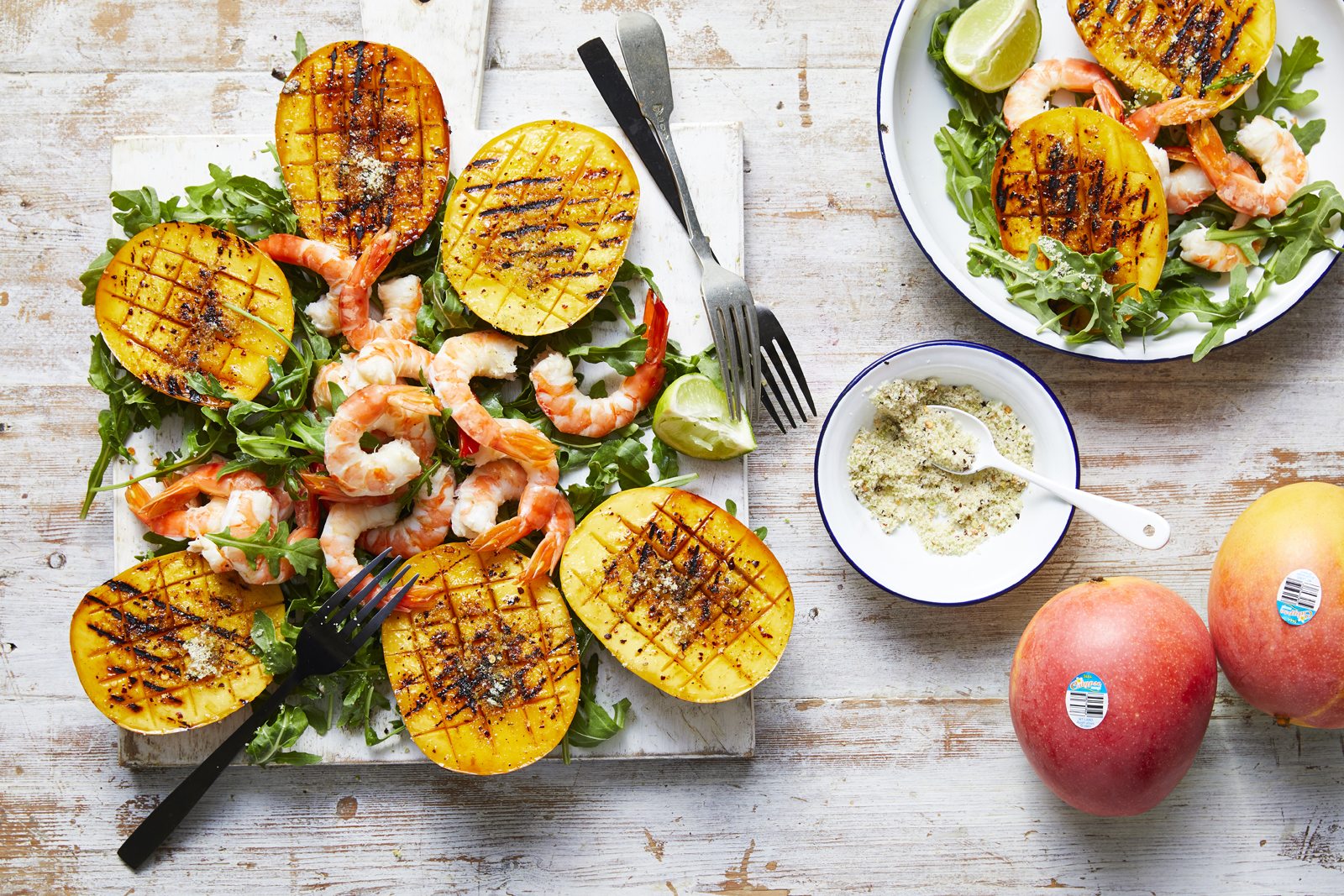 Barbecue Chilli Lime Calypso Mango with Prawns