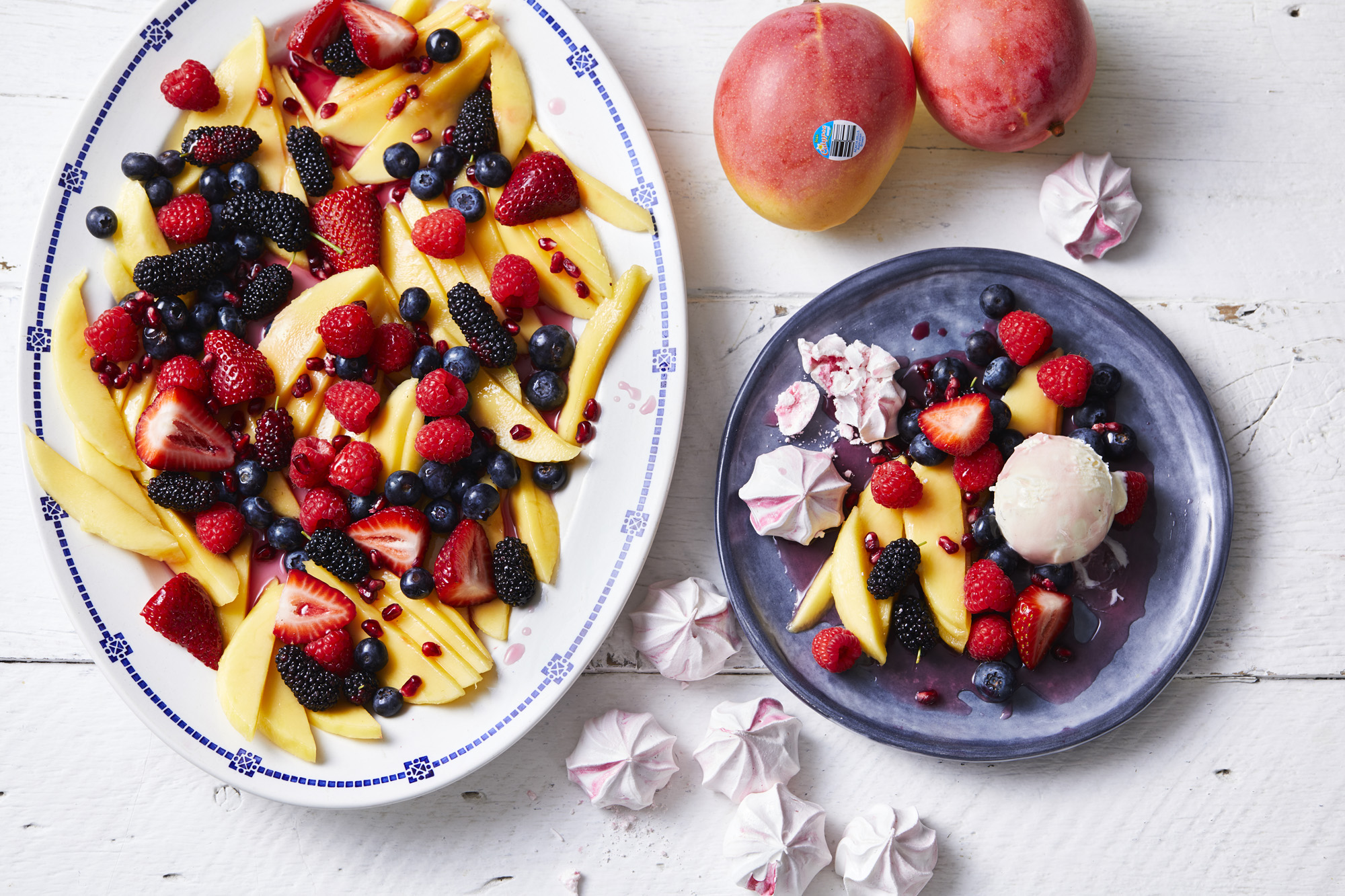 Calypso Mango & Mixed Berries Fruit Salad with Rose Syrup