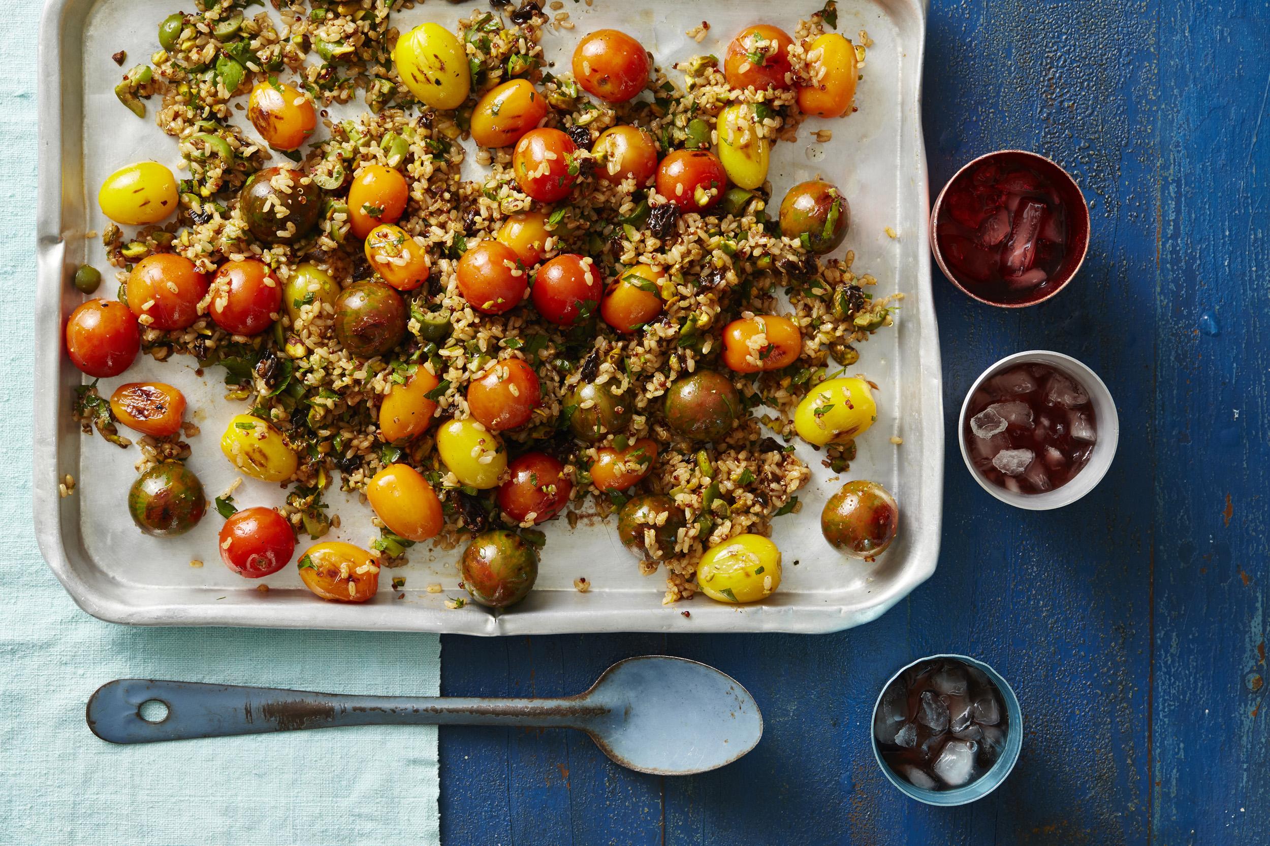 Recipe_LR_Medley_Tomatoes_Pistachio Rice & Quinoa Salad_Janelle Bloom_2015_11