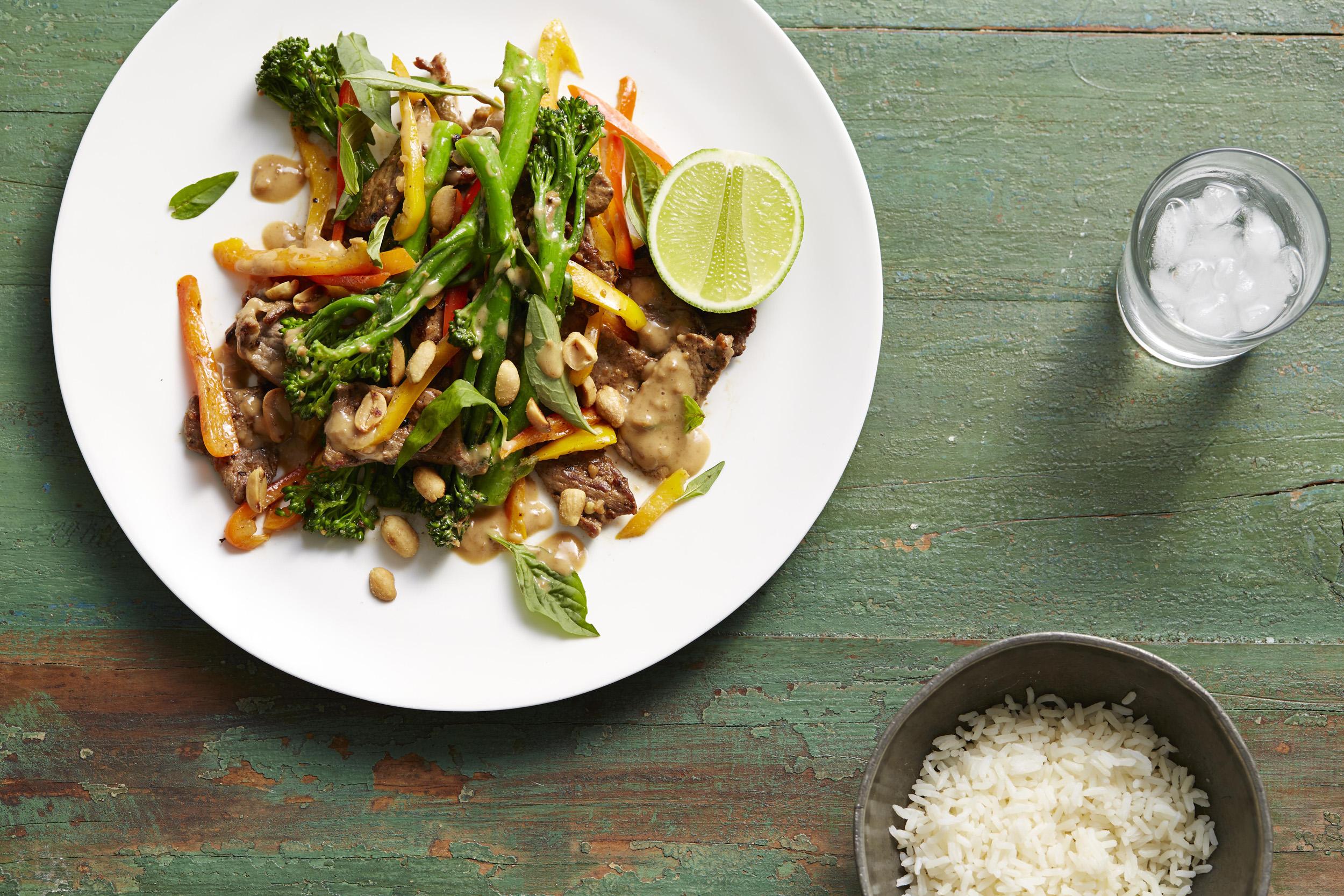 Recipe - Satay Beef and Broccolini Stir-fry